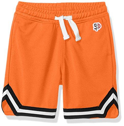 (Southpole Boys' Little Athletic Running Track Shorts in, Orange, Large)
