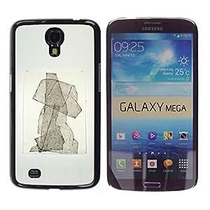 Shell-Star Arte & diseño plástico duro Fundas Cover Cubre Hard Case Cover para Samsung Galaxy Mega 6.3 / I9200 / SGH-i527 ( Puppy Abstract Watercolor Poster )
