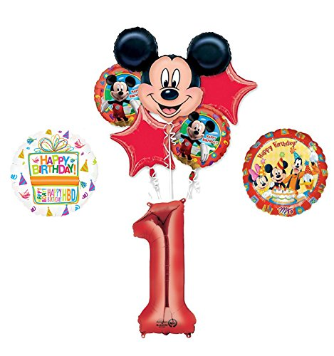 Mickey Mouse and Friends 1st Birthday Party Supplies and Balloon Decorations ()
