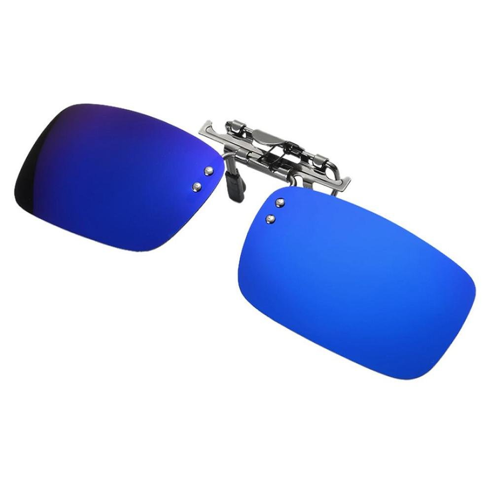 FTXJ Detachable Sunglasses Polarized Lens Driving Metal Clip On Glasses Lens