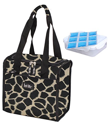 nicole-miller-11-insulated-lunch-tote-with-sandwich-container-and-ice-pack-giraffe