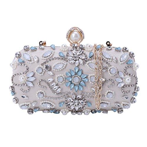 Cosmetic Evening Party Women Prom Purse Glitter Handbag Nankod Bag Beige Shoulder Bag Bags Wedding Clutch 7wpx4qq