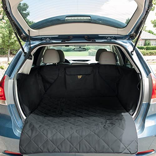 FrontPet Quilted Dog Cargo Cover for SUV Universal Fit for Any Animal Durable Liner Covers to Protect Your Vehicle Black