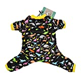 CuteBone Dog Pajamas Dinosaur Dog Apparel Dog Jumpsuit Pet Clothes Pajamas P26S