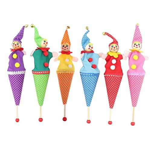 Globeagle Retractable Smiling Clown Hide & Seek Play Jingle Bell Baby Kids Funny Toy ()