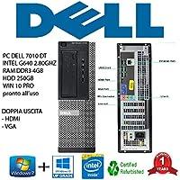 PC DELL 3010 DT INTEL PENTIUM G640 2,80GHZ/4GB/HDD 250GB/DVD/WIN 10 PRO (Ricondizionato Certificato)
