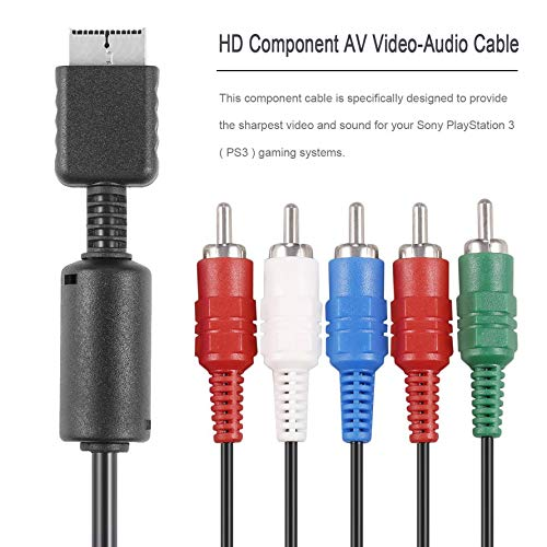 ningbao651 1pcs HD Component AV Video-Audio Cable Cord for PS2 PS3 Slim Component TV AV Video-Audio Cable Cord
