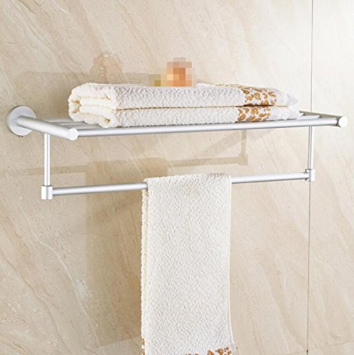 GL&G Modern Bathroom Bath Towel Rack Oxidation Space aluminum Holder ...