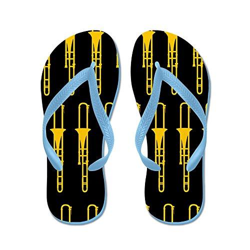 CafePress Trombone - Flip Flops, Funny Thong Sandals, Beach Sandals Caribbean Blue