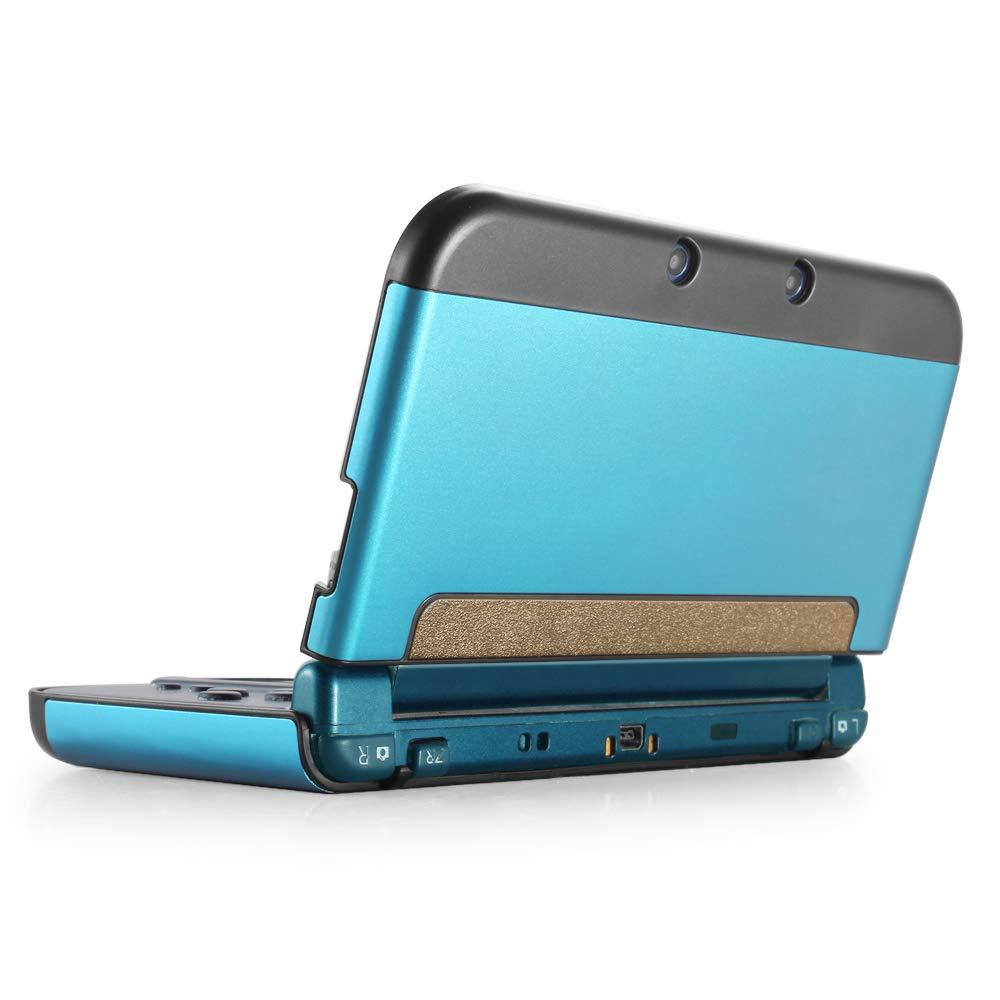 funda new Nintendo 3DS XL LL 2015 aluminio plastico celeste