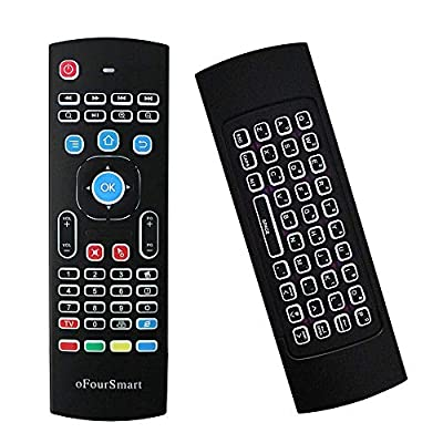 Mini Wireless Fly Mouse Keyboard with 2.4G Backlit Kodi Remote Control, Multifunction 2.4G Air Mouse for Android Smart TV Box,HTPC,IPTV, PS3,PC,Xbox,Raspberry Pi 3,Pad,PC Windows iOS MAC Linux