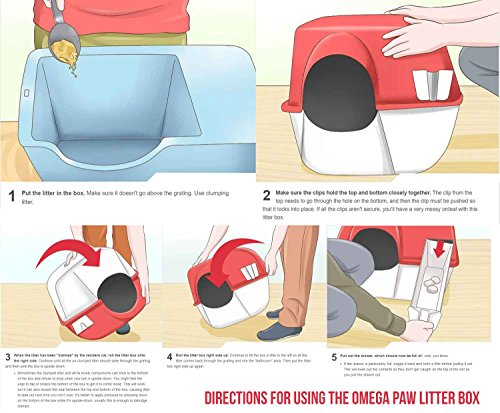 Omega-Paw-Self-Cleaning-Litter-Box-Pewter