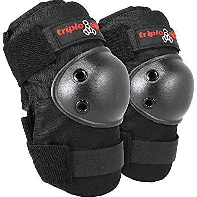 Triple 8 Elbowsaver Black Elbow Pads - One Size fits Most: Toys & Games