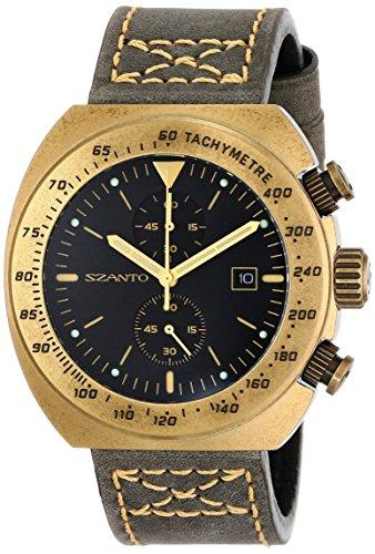 4101 Series (Szanto Men's SZ 4101 Szanto 4100 Series Analog Display Japanese Quartz Grey Watch)