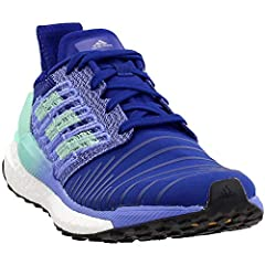 These women's running shoes have you covered from 5Ks to marathons. A Techfit upper offers both stitched-in and applied fiber reinforcement for targeted support in a sock-like fit. Boost cushions while an energy rail helps propel you forward....