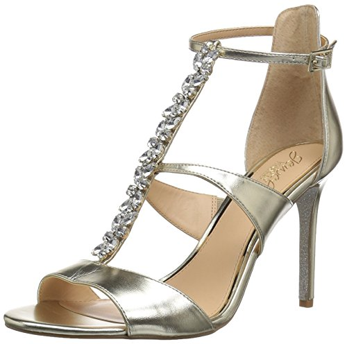 Badgley Mischka Jewel Women's MICA Heeled Sandal, Gold/Metallic, 9.5 M - Metallic Jewel Sandals