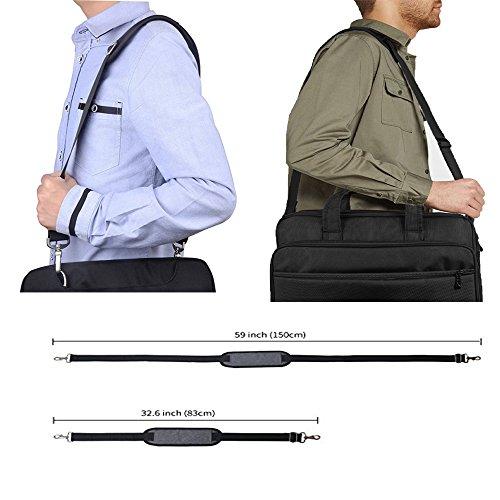 JAKAGO 150cm Universal Replacement Shoulder Straps Adjustable Bag Straps with Metal Swivel Hooks and Non-Slip Pad for Duffel Bag Laptop Briefcase Violin Bag Camera Travel Bag (Grey) by JAKAGO (Image #4)
