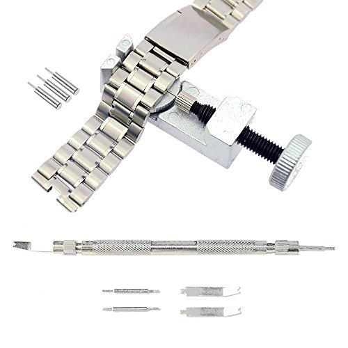 Stritra - Watch Band Strap Link Pin Replacement Remover and Spring Bar Tool Set with Extra Pins Wrist Bands Strap Removal Repair Fix Kit ()