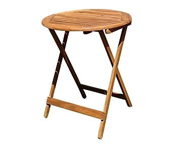 Amazon De Sam Balkon Gartentisch 60 Cm Blossom Round Holz Tisch