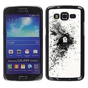 A-type Arte & diseño plástico duro Fundas Cover Cubre Hard Case Cover para Samsung Galaxy Grand 2 (Cráneo Splash)