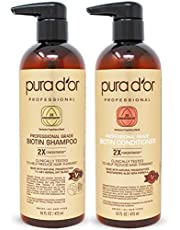 PURA DOR Organic Moroccan Argan Oil 100 Percent Pure Cold Pressed and USDA Organic Anti-Aging for Face, Hair, Skin and Nails, 4 Fluid Ounce