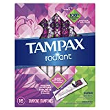 Tampax Radiant Tampons Super Absorbency, 16 Count