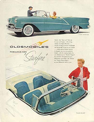 Fabulous new Oldsmobile Starfire Convertible ad 1954 P