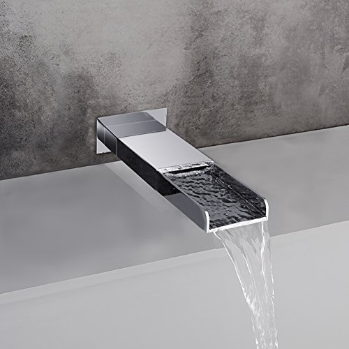 SR SUN RISE Bathroom Luxury Rain Mixer Shower Tub Spout Combo Set Wall Mounted Rainfall Shower Head System Polished by SR SUN RISE (Image #4)
