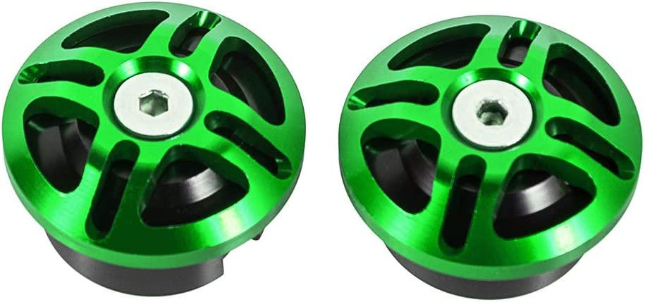 CNC Aluminum Frame Plugs Decoractive Hole Covers Caps Motorcycle Fairing Accessories for Kawasaki Ninja 250/Ninja 400/Z400 2018-2019 (Green)