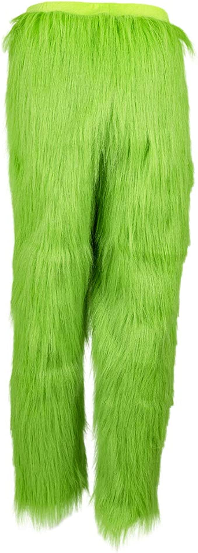 Kenyaw Jumpsuit Mens Christmas Furry Plush Green Gloves Cosplay Furry Gloves Halloween Party Cosplay Props