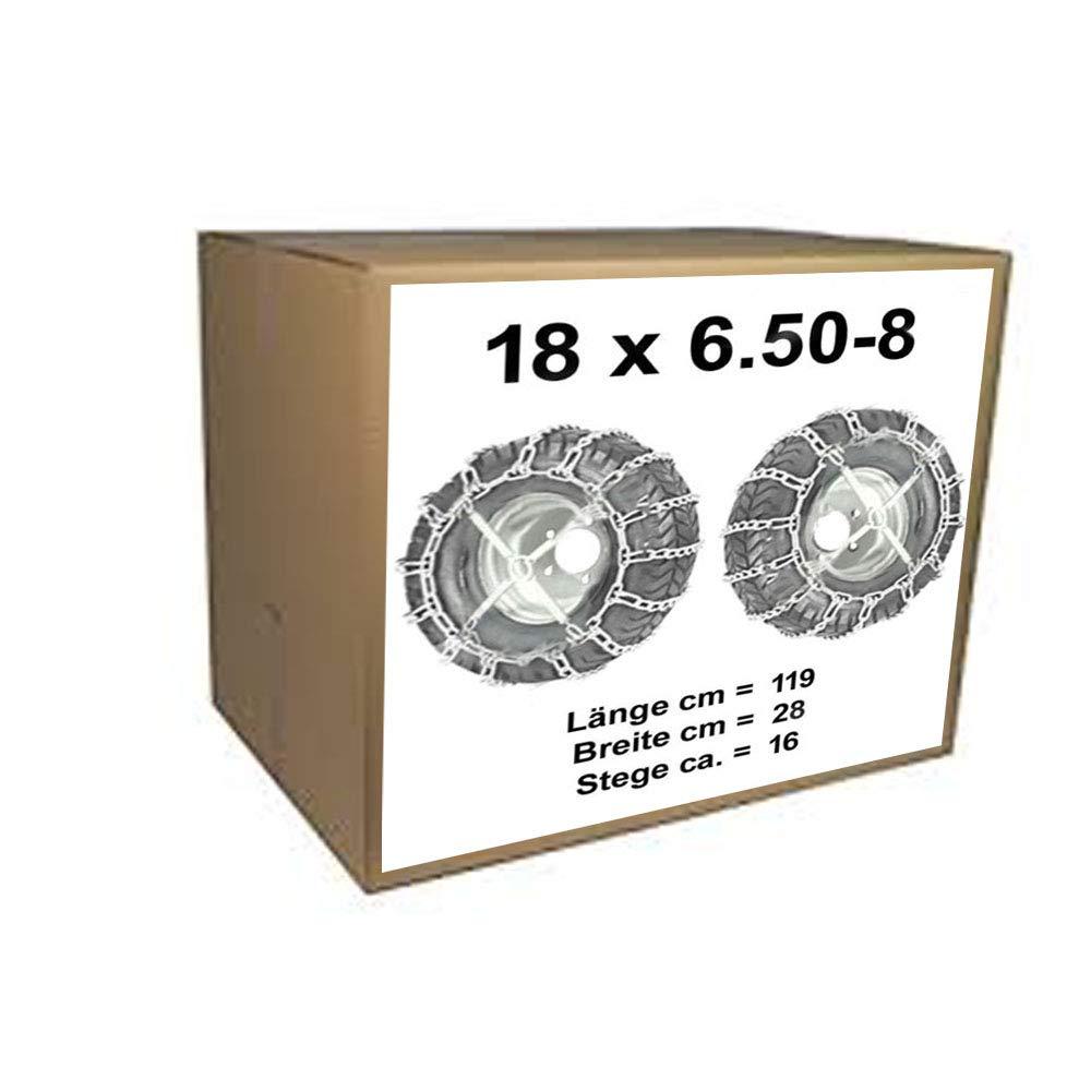 18x6.50-8 Schneeketten + Spanner fü r Rasentraktor Aufsitzmä her 18 x 6.50-8 vsk