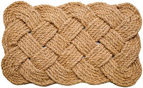 Iron Gate – Natural Jute Rope Woven Doormat 18×30 – Single Pack – 100 All Natural Fibers – Eco-Friendly – Classic Interwoven Rope Design