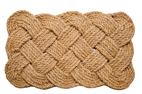 (Iron Gate - Natural Jute Rope Woven Doormat 18x30 - Single Pack - 100% All Natural Fibers - Eco-Friendly - Classic Interwoven Rope Design)