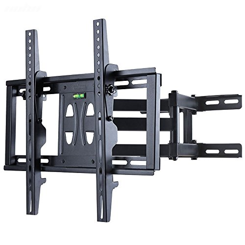 (UNHO Tilt Swivel TV Wall Mount Bracket Dual Arm Full Motion 26-55 inch LCD LED OLED and Plasma Flat Screen TV with Tilting Swivel Articulating Arm up to VESA 400x400mm and 100 lbs)