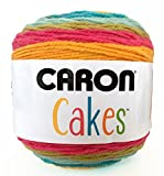 Caron Cakes Self Striping Yarn 1 Ball Rainbow Sherbet 7.1 ounces