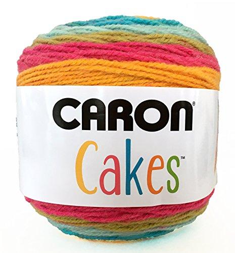 (Caron Cakes Self Striping Yarn 1 Ball Rainbow Sherbet 7.1 ounces)