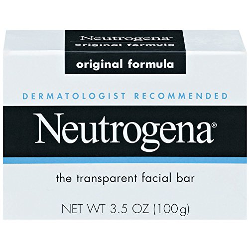 (Neutrogena Original Gentle Facial Cleansing Bar with Glycerin, Pure & Transparent Face Wash Bar Soap, Free of Harsh Detergents, Dyes & Hardeners, 3.5 oz)