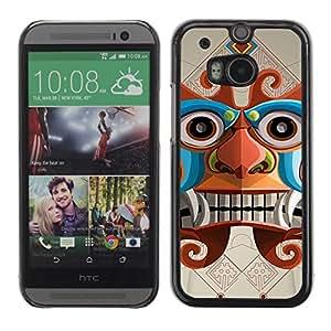 A-type Arte & diseño plástico duro Fundas Cover Cubre Hard Case Cover para All New HTC One (M8) ( Inca dios azteca Ilustración )