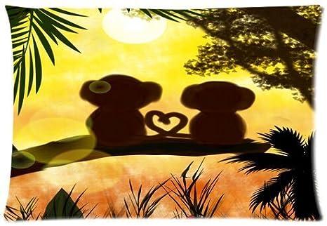 Amazon.com: Selva Sunset Love overol hermoso diseño funda de ...