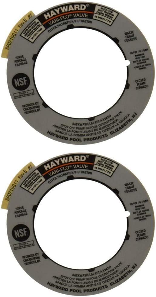 Hayward Label Plate Replacement for Hayward Multiport Filter Valves SPX0714G