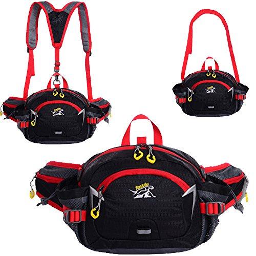 SINOKAL Multifunktionaler Taillenbeutel im Stil von Militär Leinwand Taillen Pack Tasche Wasserabweisende Bauchtasche…