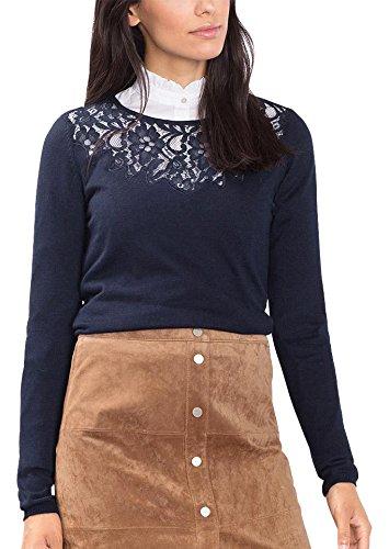 ESPRIT Collection, Suéter para Mujer Azul (Navy 400)