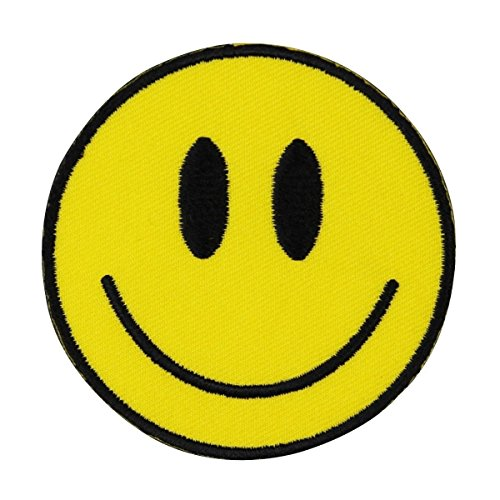Kalan Smiley Face Iron-On Patch Happy Craft Decoration DIY Sew Project Applique by Mia_you