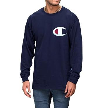 3faa3e87a798 Champion Men's Big & Tall Graphic Logo Long Sleeve T-Shirt (XLT, ...