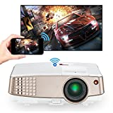 Wireless Screen Mirror LCD Android Projector Portable...