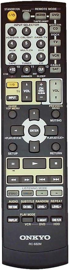 Amazon.com: Used ONKYO Remote Control For Onkyo RC-693M RC-681M RC-682M RC-719M A/V AV Receiver: Home Audio & Theater