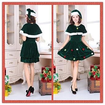 e5f07ece36025 SD101 維新屋ショップ販売 クリスマス コスプレ 衣装 仮装 グリーン ワンピース クリスマスツリー 衣装