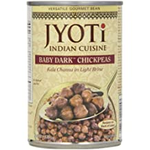 Jyoti Natural Foods Kala Channa, Baby Dark Chickpeas in Brine, 15-Ounce Cans (Pack of 12)