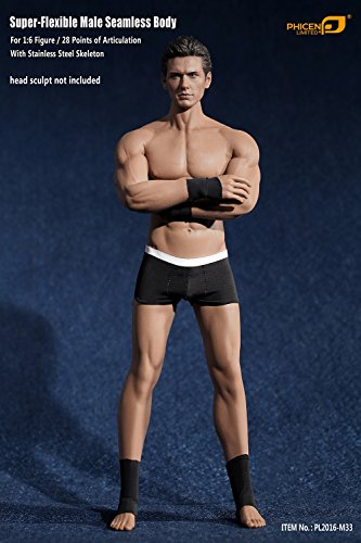 Phicen 1/6 Scale Super Flexible Male Muscular Seamless Body PL2016-M33 ()