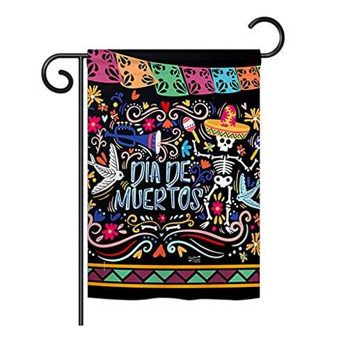 (Angeleno Heritage GS137071-BO Colorful Dia de Muertos Fall Halloween Impressions Decorative Vertical 13